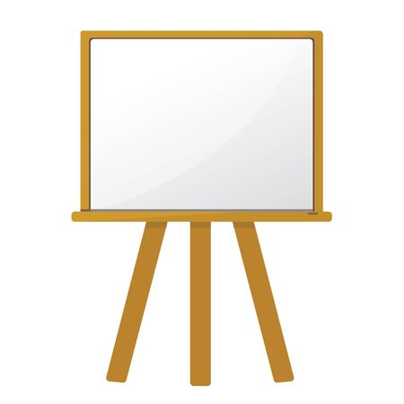 white board: white board and wooden frame.