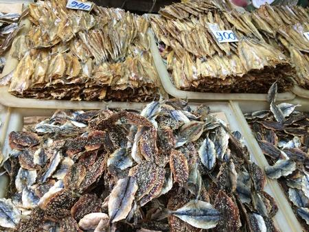 dry fish: Dry fish at fresh market.