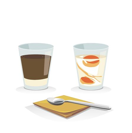 soft tissues: Hot coffee with soft boiled egg and tissues paper and spoon.