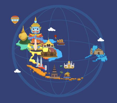 Mapa con los lugares turísticos