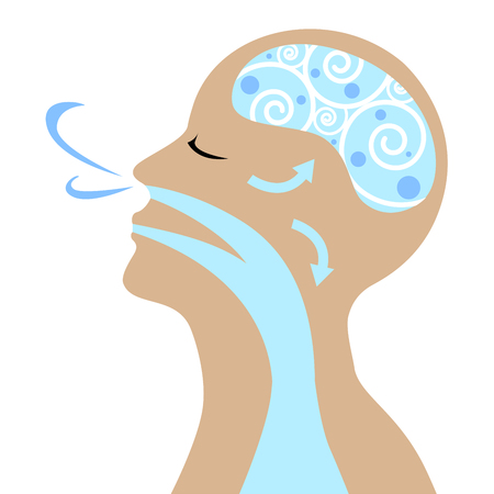 People to breathe for good health vector.