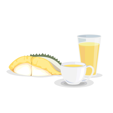 King of fruits, Durian drink in a cup and a glass.