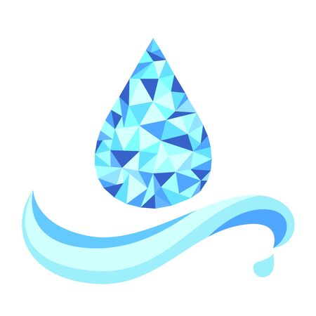 Vector of drop water and wave. 向量圖像