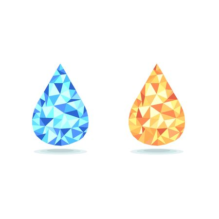 Vector of drop water and oil. 向量圖像