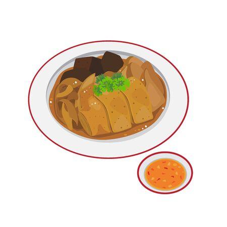 A dish of chinese stewed duck. Illusztráció