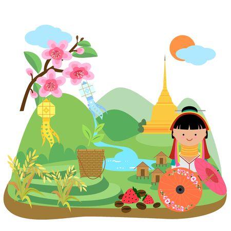 northern travel- graphic northern thailand.