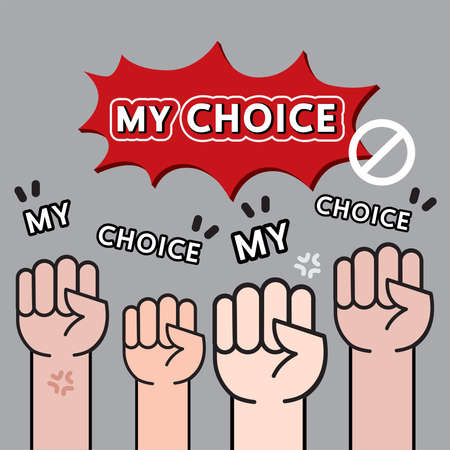 Vector of hand and wording my choice 일러스트