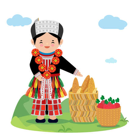 Hmong in northern of vietnam in traditional costume.