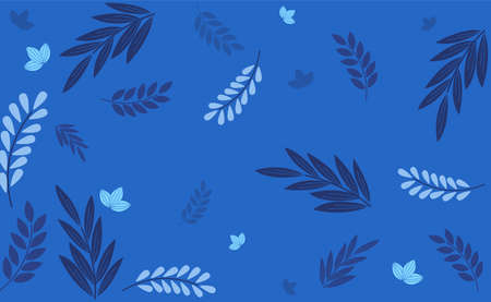 Blue leaf blackground for decoration. Vettoriali