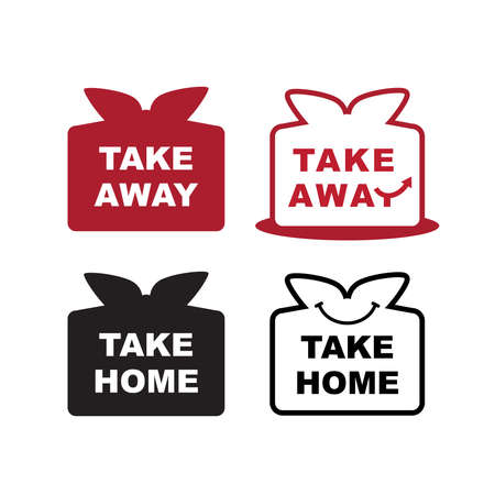 Icon set -  take away and take home. Vettoriali