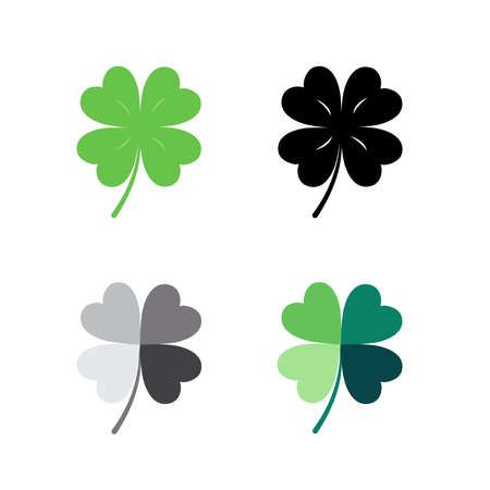 Vector - collection of clover leaf icon for decoration. 矢量图像