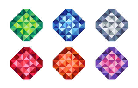 Graphic colorful triangle in square shape for decoration. 矢量图像
