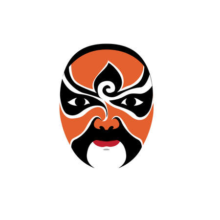 Vector traditional chinese soap opera mask.