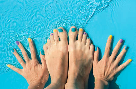 Colorful nails Stock fotó - 66135991