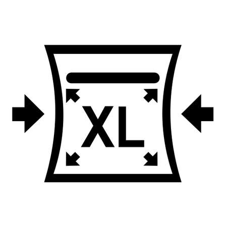 Extra Large initial letters icon with arrows