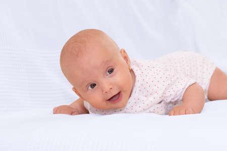 Portrait of an adorable little baby girl Stock fotó - 89673369