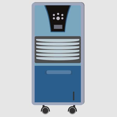 Portable air conditioner front view conceptual vector Illustration
