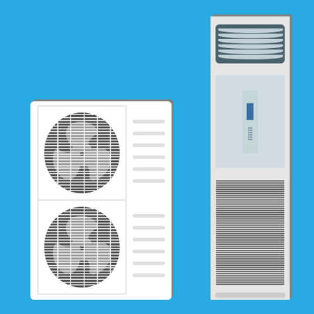 Air conditioner system: indoor unit and two outdoor units
