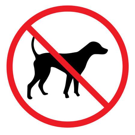 Geen honden toegestaan ??teken in rode cirkel