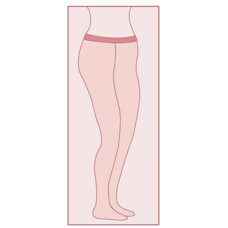 Pink pantyhose for women symbol, conceptual vector Illustration