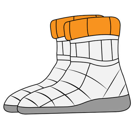 Drawing shoes on a white background, vector