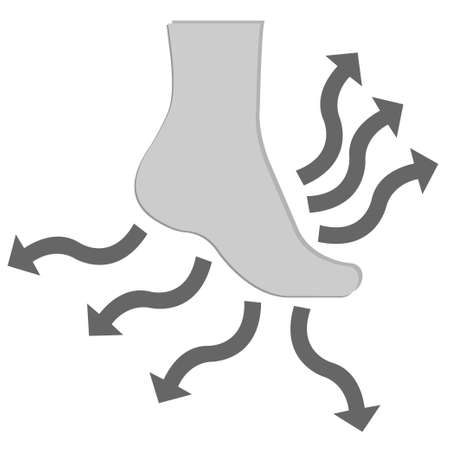 Waterproof breathable sock, a conceptual vector