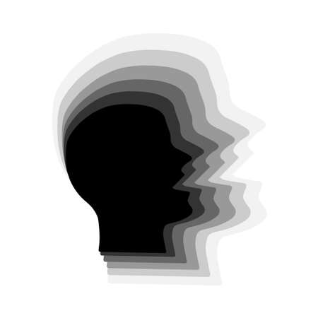 3d silhouette of a man speaking