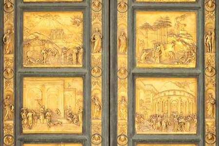 Gates of Paradise biblical scenes detail, Florence