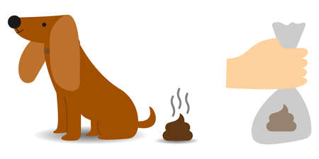 Clean up after your dog, conceptual vector