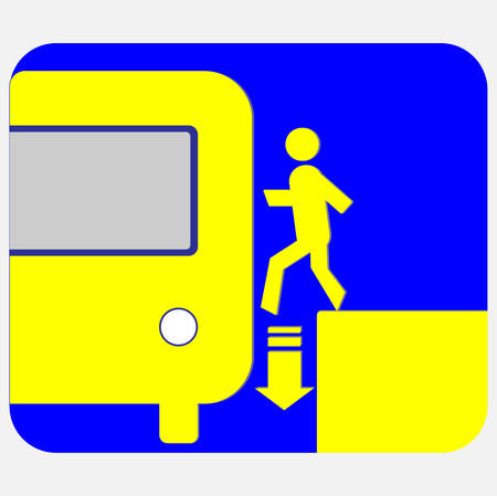 Be careful when entering the subway train icon