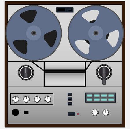 Vintage magnetic audio tape reel-to-reel recorder Stock fotó - 127973084