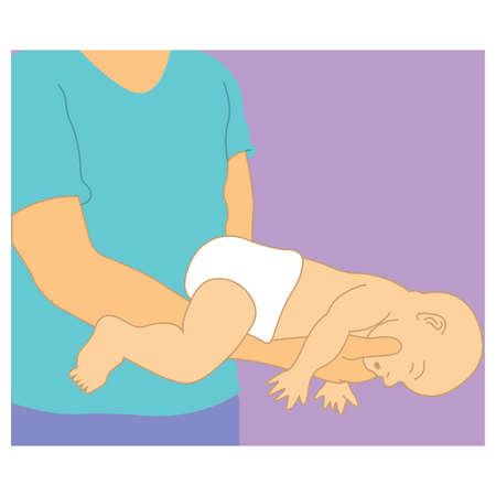 How to give first aid for newborns in case of chocking