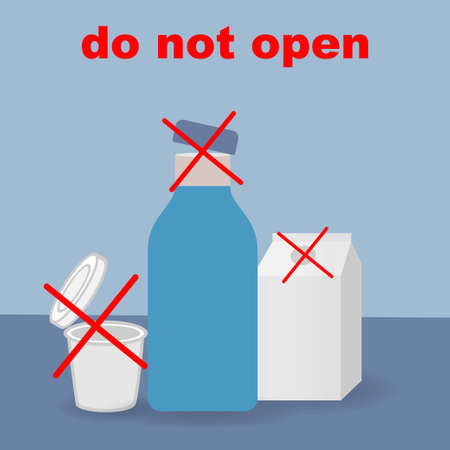 Do not open the lid of the products