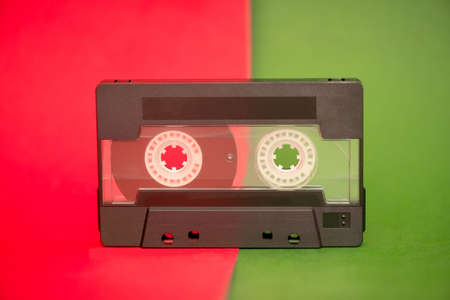 Vintage and dusty audio cassette