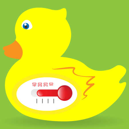 Water thermometer in shape of a duck