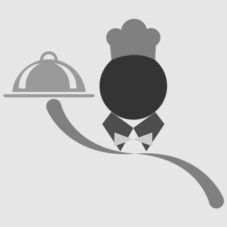 Symbol of a chef holding a plate