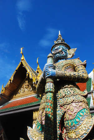 Giant in Front of Wat Phra Kaew Gate Bangkok, Thailand photo