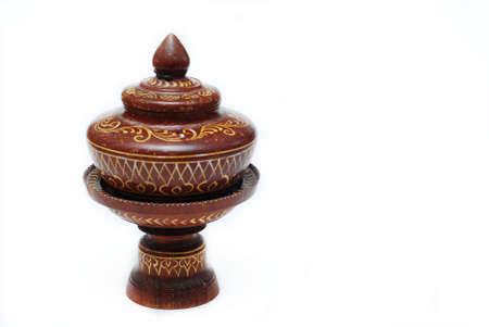 lacquerware: Thai design lacquerware Stock Photo