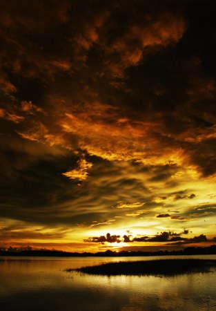 nimbus: Sunset before nimbus Stock Photo