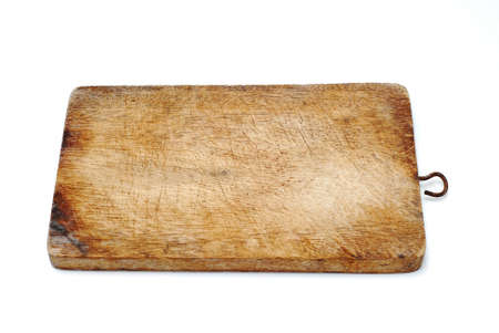 timber cutting: Cutting board on white background