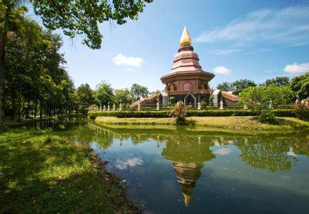 Buddhist temple,Phi Lom Temple,Trat, Thailand Reklamní fotografie