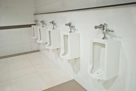 Public toilets urinals  Stock Photo - 18254378