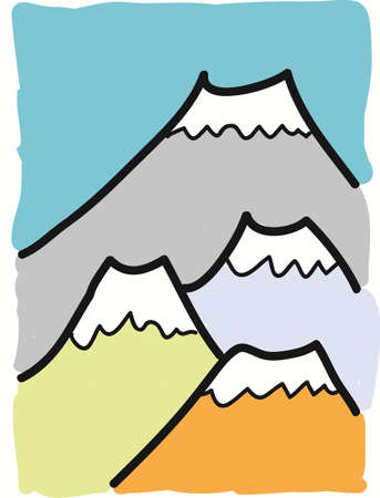 free hand drawn mountain Vector