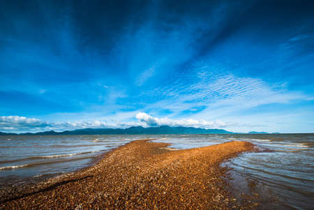 sandbar: Sandbar opposite the island