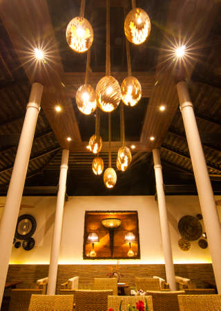 Lighting in the dining room, high roof