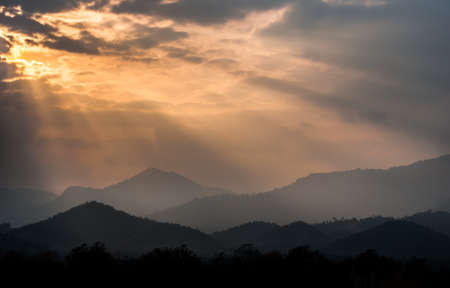 Sunset behind the mountains
