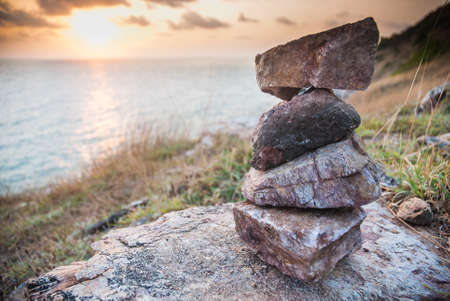 Stacking stones in vertical format