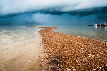 sand dune and rain storm Reklamní fotografie