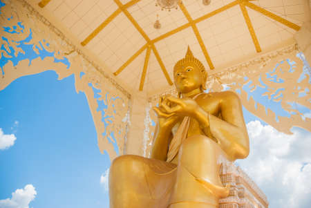 Big Buddha Statue with nice blue sky background photo