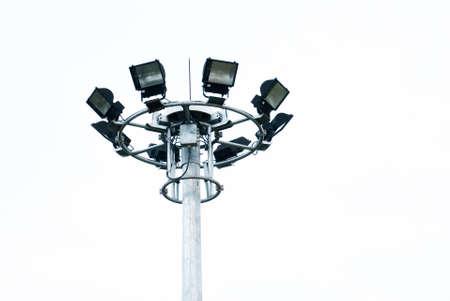 Stadium light on white background Reklamní fotografie
